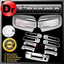 09-15 Dodge Ram Chrome Mirror no Light+4 Door Handle+Tailgate no CM+Gas Cover