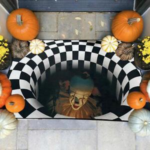Halloween 3D Stereo Joker Printed Anti-slip Home Room Rug Carpet Floor Room Mat