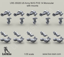 Live Resin 35026 x 1/35 US Army NVG PVS 14 Monocular Mounts