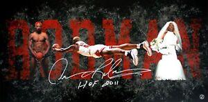 Dennis Rodman Autographed Career Collage Chicago Bulls 15x30 Photo ASI Proof