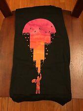 Teefury Men's SMALL S Black T-Shirt Sunset Painter Original Art