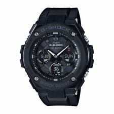 Casio G-shock G-steel Ana-digi Solar 200m Black Resin Watch Gsts100g-1b