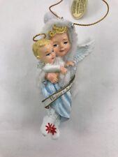 """Snow Wonder Angel Peace on Earth And Mercy Mild Christmas Ornament Bradford ex"