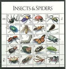 US# 3351 33c Insects and Spiders Stamp Sheet - Mint - Collector Quality