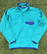 Patagonia Synchilla Snap T Fleece Turquoise Mens Small Used