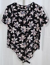 Madewell Silk Button-Back Tie Tee in Winter Orchid Size XXS