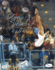 ssg olga korbut signed 8x10 color olympic photo with a jsa james spence