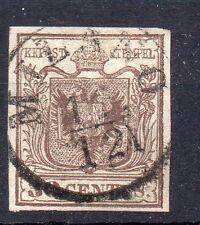 FRANCOBOLLI ANTICHI STATI 1850 LOMBARDO VENETO 30 CENTESIMI 1° TIPO D 01265
