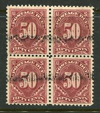 (1917-26) J67 50¢ Postage Due choice used block
