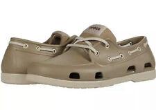Crocs Classic Boat Shoe Khaki/Cobblestone Size Mens 10 UK 9 EUR 43-44
