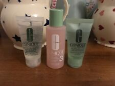 ⭐️CLINIQUE⭐️Liquid Soap/Hydrating Jelly/Clarifying Lotion Intro Travel Set + Bag