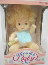 Vintage 1987 Hasbro -LOVE A BYE BABY Doll - #4504 / 5121asst.-Curly Blonde Hair
