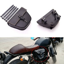 Quick-release buckle Leather Motorcycle Saddle Luggage Side For Cafe Racer ATV