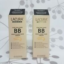 Lacura Medium BB Face Cream SPF 15 2 X 50ml Evens Skin Tone Conceals Lines