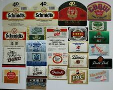 Lot of (25) Different Beer Bottle Labels From Philadelphia, Pa Breweries Unused
