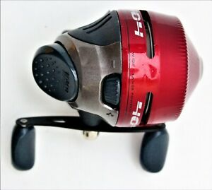 New Zebco 404 GwL4 Pre- Spooled With Line Red Enclosed Reel Spin Cast