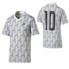 Puma Football Jersey Mens Short Sleeve White Print Polo T-Shirt 570411 02 R10L