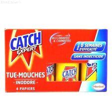 Catch Expert lot de 4 Rouleaux de Bandes Piège attrape mouche Tue / Anti Mouche