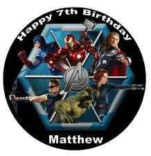 "Marvel Avengers Superheros Personalised Cake Topper 7.5"" Edible Wafer Paper"