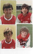 """Arsenal FC - 4 """"signé"""" photos de vieux joueurs-RARE"""