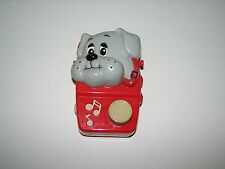 Tonka Pound Puppies Wind Up Music Box Radio Toy Red Illco 1986 Hong Kong Works
