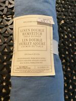 """Williams Sonoma Linen Double Hemstitched Table Runner 16""""  X 108"""" Navy Blue New"""