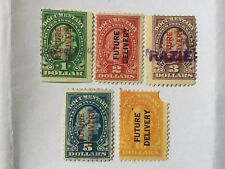 USA $1, To $10 Overprints Future Delivery Old Stamps