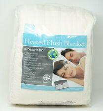 """Biddeford Microplush 100"""" x 90"""" Heated Blanket 2 Controllers - KING - Cream"""