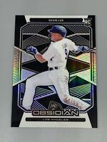 Gavin Lux 2020 Panini Chronicles Obsidian Rookie RC #3 Los Angeles Dodgers