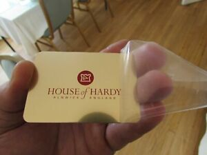 rare gold metal house hardy plaque badge decal fly fishing reel box etc
