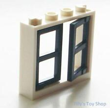 Lego - 2 Window Frame With Opening Window - Earth Blue - 28961 60594 - NEW