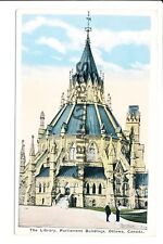 The Library, Parliament Buildings Ottawa Vintage Postcard C01