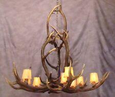REAL ANTLER ELK YELLOWSTONE CHANDELIER 9 LIGHTS, LAMP, DEER LIGHTING, RUSTIC