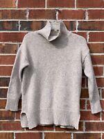 TRENERY Tan Oatmeal 3/4 Sleeve Knit Sweater Size Medium Wool Cashmere Sweater