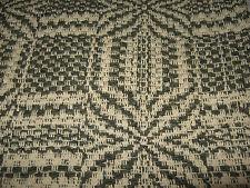 "ECRU & OLIVE GREEN REVERSIBLE JACQUARD TABLE RUNNER  55 1/4"" x 13 1/2"""