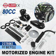 TOP 80cc 2 Stroke Petrol Motor Engine Kit for Motorised Bicycle Push Bike NEW