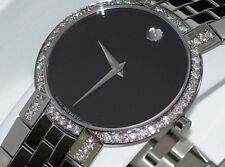 Men's Movado Museum Faceto Custom Set Diamond Swiss Watch 0605040