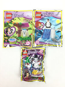 Lego Friends Figurine Pingouin + Chat + Bonhomme De Neige Neuf / Penguin Polybag