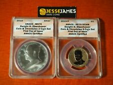 2015 P REVERSE PROOF EISENHOWER DOLLAR ANACS PF70 MS70 FDI COIN CHRONICLES SET