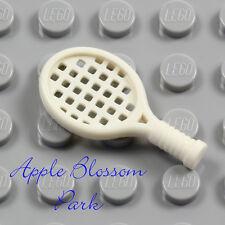 NEW Lego Minifig WHITE TENNIS RACKET - Minifigure Ace Racquet Ball Sport Tool