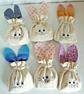 Gift bag Rabbit bunny gift treat party bag eco friendly reusable