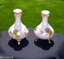2 Antique Bernardaud - B & Co. -Limoges, France - Dresser Perfume Vanity Bottles