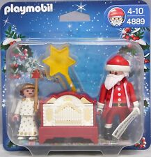 Playmobil 4889 Weihnachtsmann Nikolaus Engel Leierkasten Drehorgel NEU