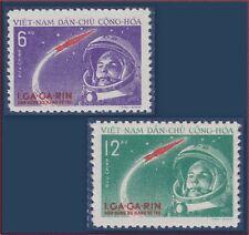 VIETNAM du NORD N°228/229** Gagarine Espace, C 36,5€,1961 North Vietnam Space NH