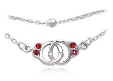 Red Handcuffs Anklet Ankle Bracelet Bead Chain Summer Beach Party Jewelry