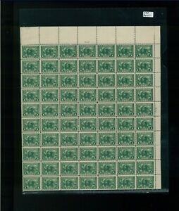 1913 United States Postage Stamp #397 Mint Full Sheet Plate No. 6131