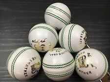Black Ash Premium Grade Pack Of 6 White Cricket Leather Balls 156 Grams
