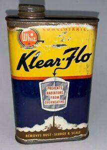 Vintage, WHIZ / KLEAR FLO, Rust Remover, 16oz Tin Can (Empty)