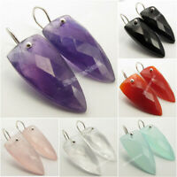 925 PURE Silver Triangle Earrings ! Made In India Affordable Wedding Jewelry