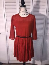 New With TAGS!! ASOS Womens Size 8 Burnt Orange, Black Dress